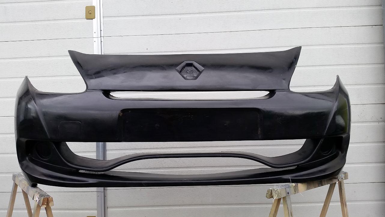 pare choc fibre de verre clio 3 cup exigence motorsport. Black Bedroom Furniture Sets. Home Design Ideas